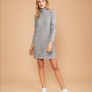 Lou & Grey• Soft Ribbed Turtleneck Dress